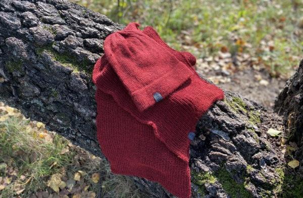 komplet painted - czapka i szalik